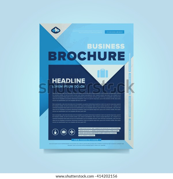 Corporate brochure flyer design layout template in A4 size, vector eps10.