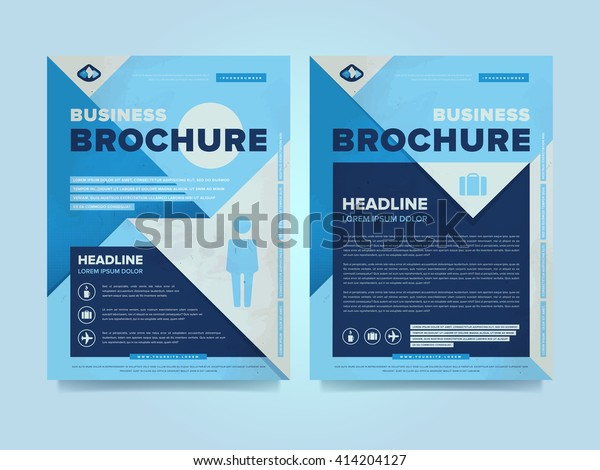 Corporate brochure flyer design layout template in A4 size, vector eps10. Creative poster with icons. Business logo.