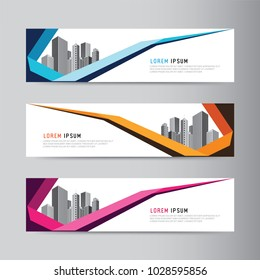 Corporate business banner design. modern web template