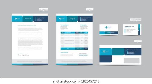 Corporate Business Branding Identity| Stationary Design | Letterhead | Business Card, Invoice,   Envelope, Startup Design