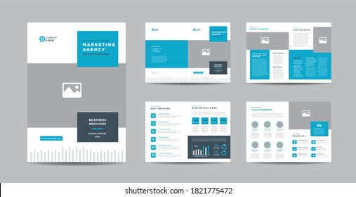 Corporate Business Brochure Design | Annual Report and Company Profile | Booklet and Catalog Design Template