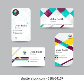 Corporate business card. Personal name card design template. vector illustration.