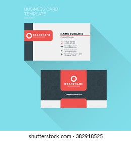 Visiting card design images stock photos vectors shutterstock corporate business card print template personal visiting card with company logo clean flat design colourmoves