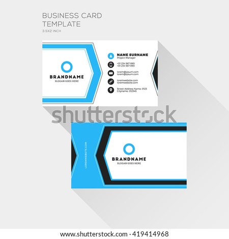 Corporate business card print template personal stock vector corporate business card print template personal visiting card with company logo clean flat design accmission Image collections