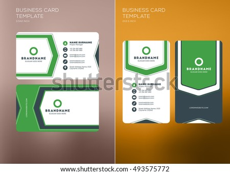 Corporate business card print template personal stock vector corporate business card print template personal visiting card with company logo vertical and horizontal friedricerecipe Images