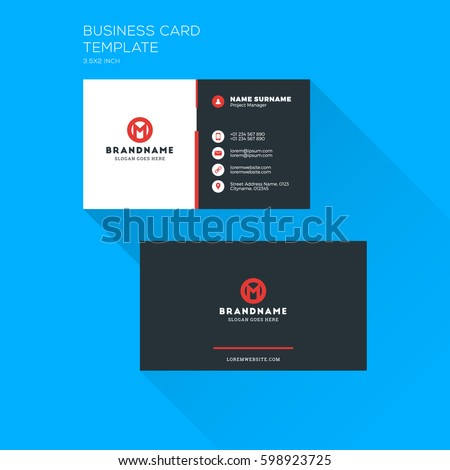 Corporate Business Card Print Template Personal Image Vectorielle De