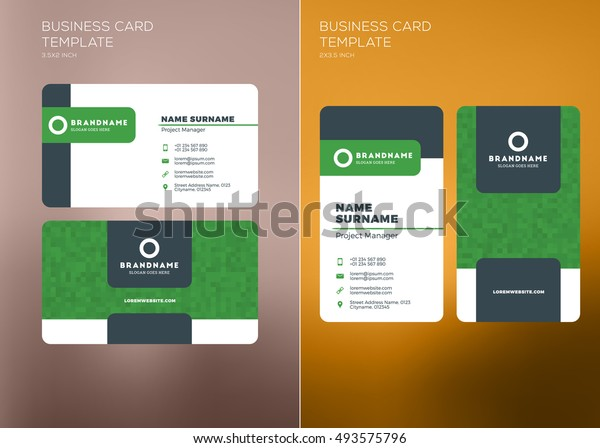 Vorlage Fur Unternehmenskarte Drucken Personliche Visitenkarte
