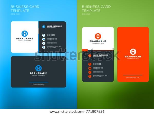 Vorlage Unternehmenskarte Drucken Vorlagen Vertikale Und