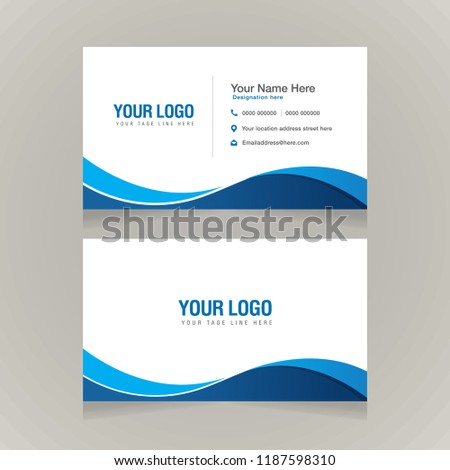 Corporate Business Card Template Visiting Card Stock Vector Royalty