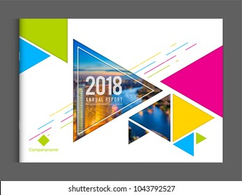 Corporate business cover design template  brochure annual report company profile catalog magazine flyer booklet leaflet. Cover page A4 landscape vector sample image with Gradient Mesh