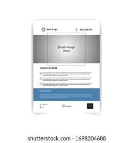 Corporate business flyer. Business brochure flyer design a4 template.