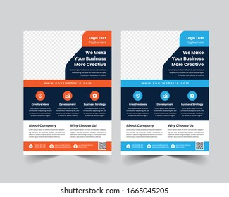 Corporate Business Flyer poster pamphlet brochure cover design layout background,vector template in A4 size - Vector