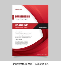 Corporate business flyer template . -  Vector.