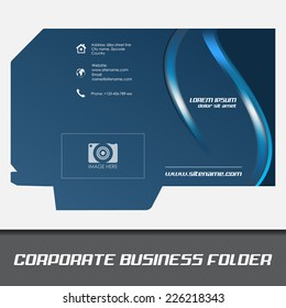 Corporate business folder template document folderdesign stock corporate business folder or document folder templateeditable vector design can be used for accmission Images