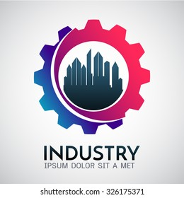 Corporate business industrial creative logotype symbol.Vector illustration, graphic elements editable for design.