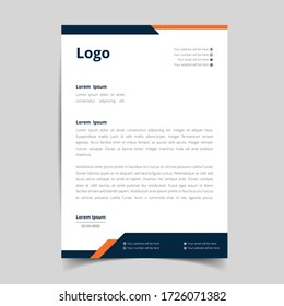 Corporate Business Letterhead, Elegant and minimalist style letterhead template design full Vector.