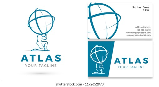 Corporate Business Logo & Business card, Brand Design, Vector