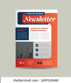 Corporate Business Newsletter Design | Company Flyer & Journal Design