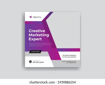 Corporate business social media post design template ads banner promotion and sale post