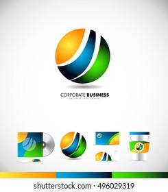 Corporate business sphere logo icon design
