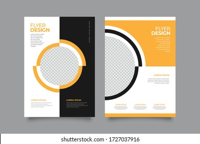 Corporate Creative Business Flyer brochure design, size A4 template, creative leaflet, trend cover geometric, agency flyer