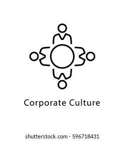 Corporate Culture Vector Line Icon