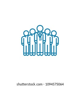 Corporate department linear icon concept. Corporate department line vector sign, symbol, illustration.