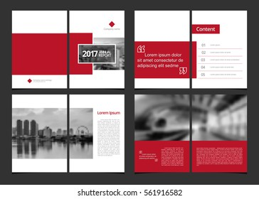Corporate design annual report or catalog, magazine, flyer, booklet, brochure. Set include cover design template and inner page layout size A4 vector EPS-10 and sample image with Gradient Mesh.