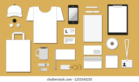 corporate design various elements vector