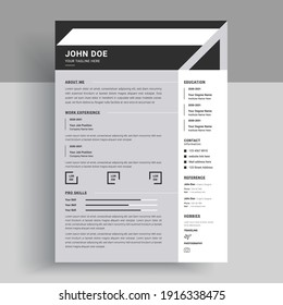 Corporate designer resume and cv vector
