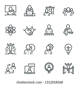 Corporate Development web icon set - outline icon collection, vector. Editable Stroke. 48X48 Pixel Perfect.