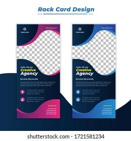 Corporate DL flyer. rack card design template
