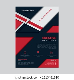 Corporate elegant and creative business flyer template design. Orange, red, and blue flyer A4 template. Abstract business brochure flyer design layout. Poster flyer brochure design template.