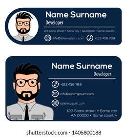 Corporate Email Signature Modern Design. Vector illustration.