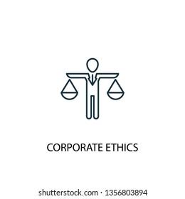 corporate ethics concept line icon. Simple element illustration. corporate ethics concept outline symbol design. Can be used for web and mobile UI/UX