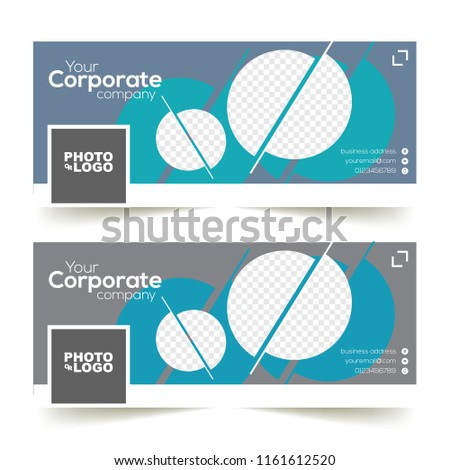 Corporate Facebook Timeline Cover Template Circle Stock Vector