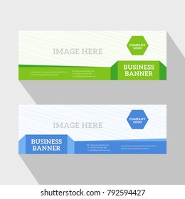 Corporate Flat Green and Blue Website Slider Banners