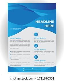 Corporate Flyer Design Template Illustration