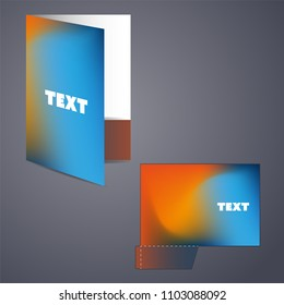 Corporate Folder Design with Blurred Pattern