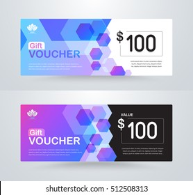 Corporate gift voucher template. luxury gift voucher template. coupon template. vector card design