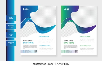 Corporate healthcare cover, page a4 template design and medical brochure design, flyer, leaflets decoration for printing and presentation vector illustration