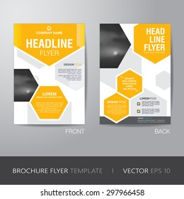 business brochure flyer design layout template のベクター画像素材