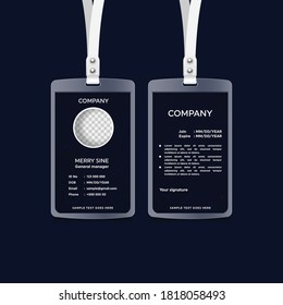 Corporate ID Card Design, Simple and Clean id card Design Template.
