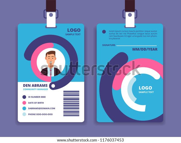 Corporate Id Card Professional Employee Identity Stock