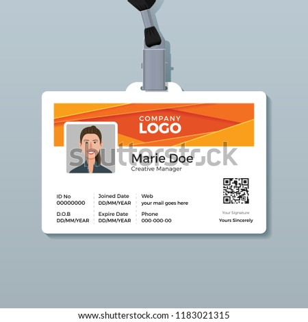 corporate id card template modern abstract stock vector royalty