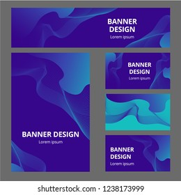 Corporate identity branding template. Vector stationery design with team community social Blue background. Business documentation