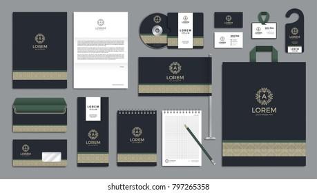 Corporate identity branding template. Vector company style for brandbook.