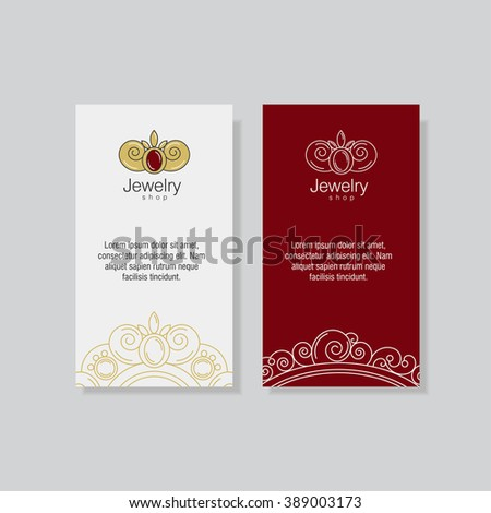 Corporate Identity Business Cards Brochures Jewelry Stock Vector