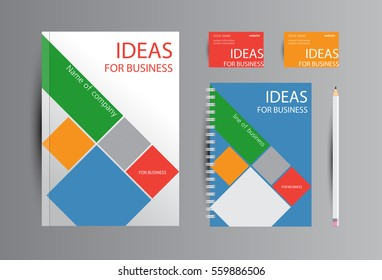 Corporate identity for business. Catalog, cards and notebook design.