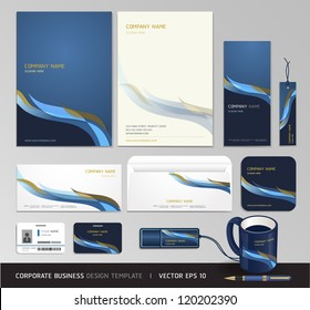 Corporate identity business set design. Abstract background Vector illustration.